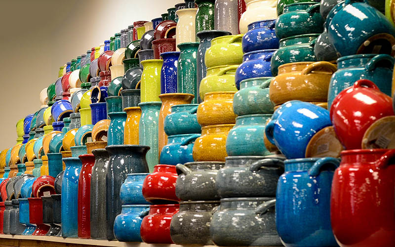 Wall of Color - Indoor Pottery