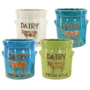 HTX173581AMIXA Farm Life Dairy Cow Planter Bright Tones Assortment
