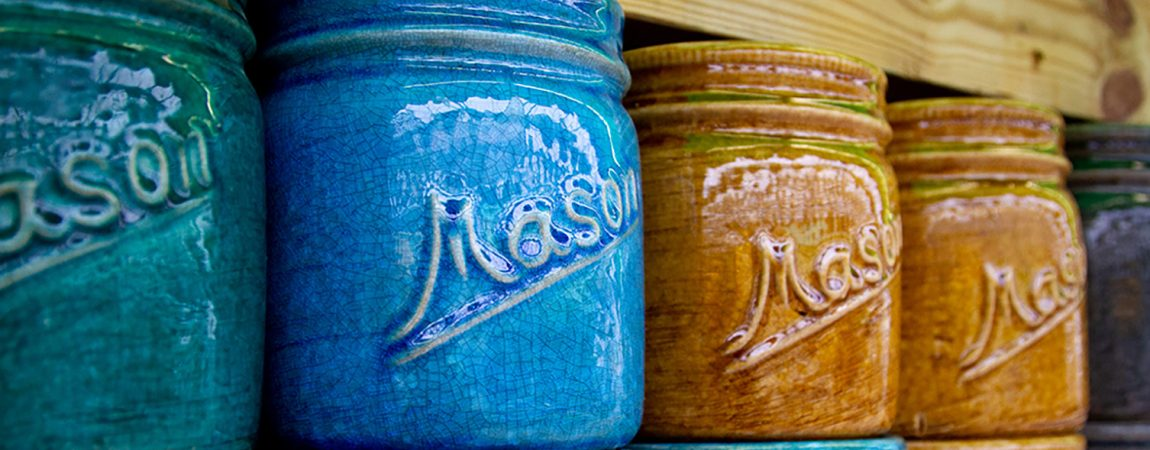 Michael Carr Designs Mason Jar Indoor Pottery Collection