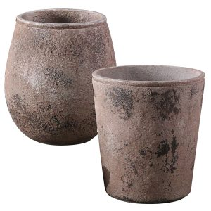 Michael Carr Designs Liconfiber 30pc Tall Round Planter Collection - Dark Chocolate