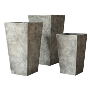 Michael Carr Designs Liconfiber 18pc Tall Square Tapered Collection - Sandy Light Brown