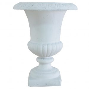 200020BWHITE 18in Tall Traditional Urn in White