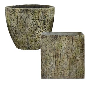 MCDLFB041TPEBRK 24pc Bark Planter Collection in Taupe Bark