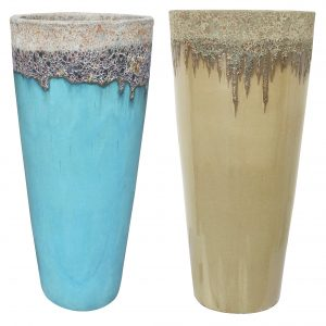 MCDVOB002MIXI 15pc Tall Round Volcanic Planter Collection - Mix I