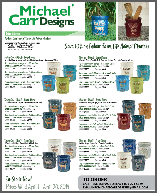 Michael Carr Designs 2019 April Flyer